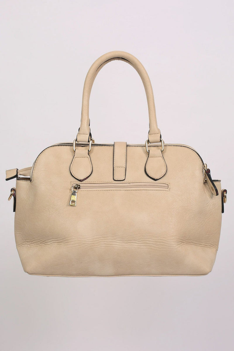 Two Handle Bowler Tote Bag in Champagne 3