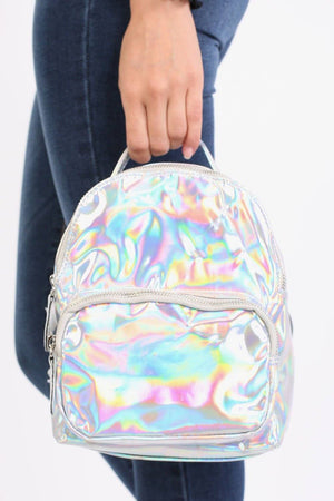 Holographic Backpack in Silver 1