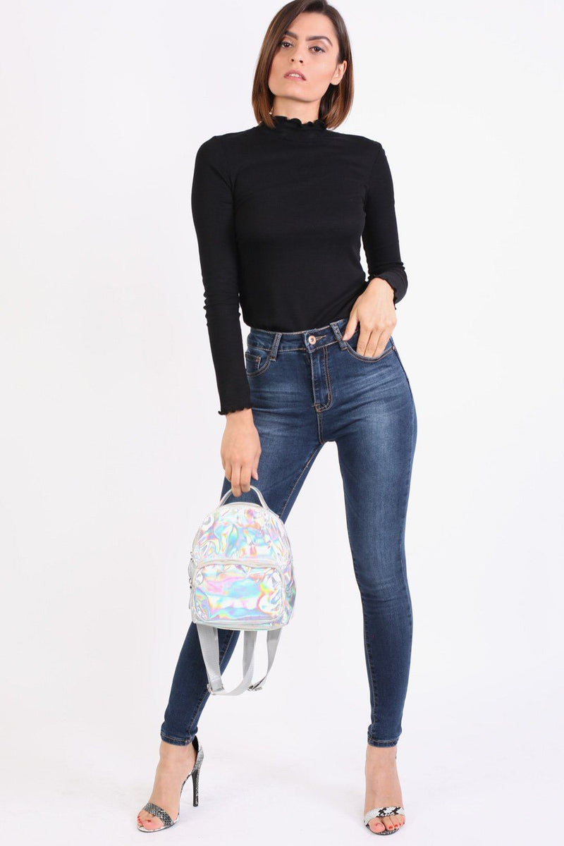 Holographic Backpack in Silver 2