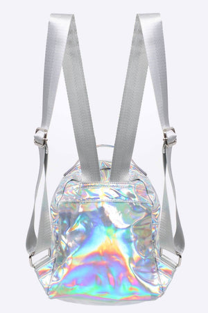 Holographic Backpack in Silver 4