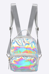 Holographic Backpack in Silver 3