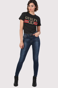 Guilty Graphic Print T-Shirt in Black 3