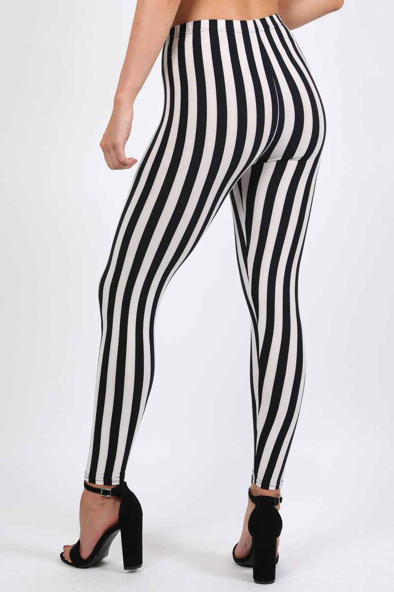 Stripe Detail Leggings in Black 1