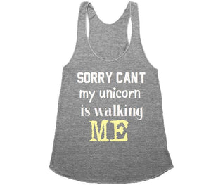 unicorn walking me t-shirt - Shirtoopia