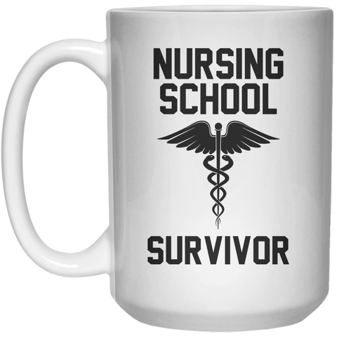 Nursing School Survivor  Mug - 15oz - Shirtoopia