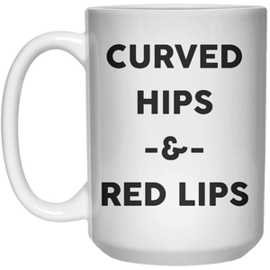 Curved hips and red lips  Mug - 15oz - Shirtoopia