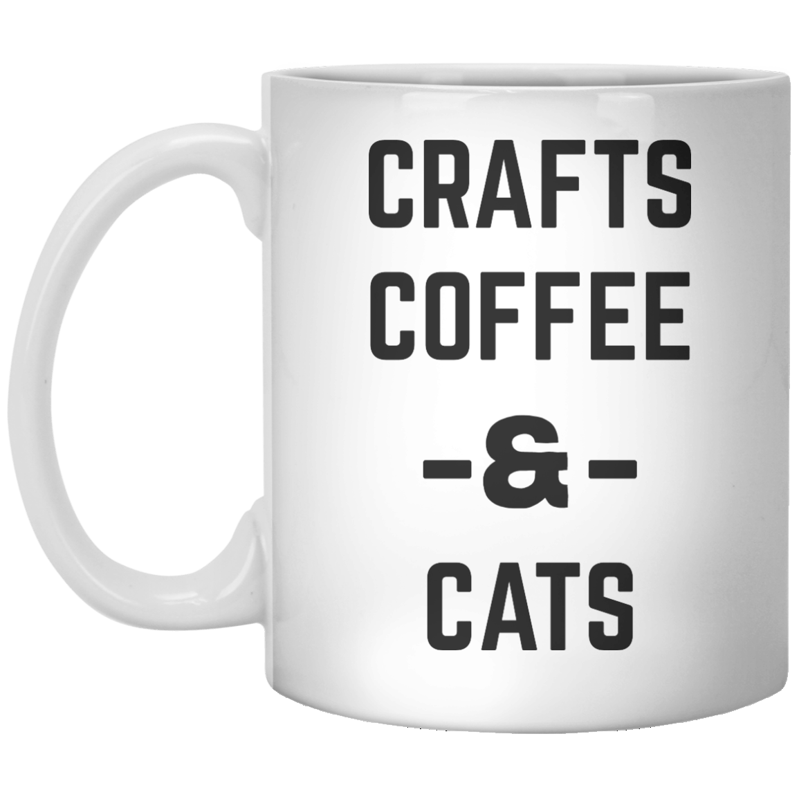 Crafts Coffee & Cats MUG - Shirtoopia