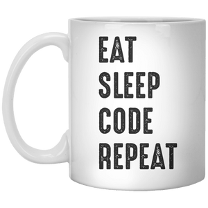 Eat Sleep Code Repeat MUG - Shirtoopia