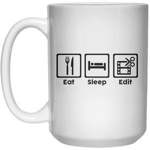 Eat Sleep Edit  Mug - 15oz - Shirtoopia