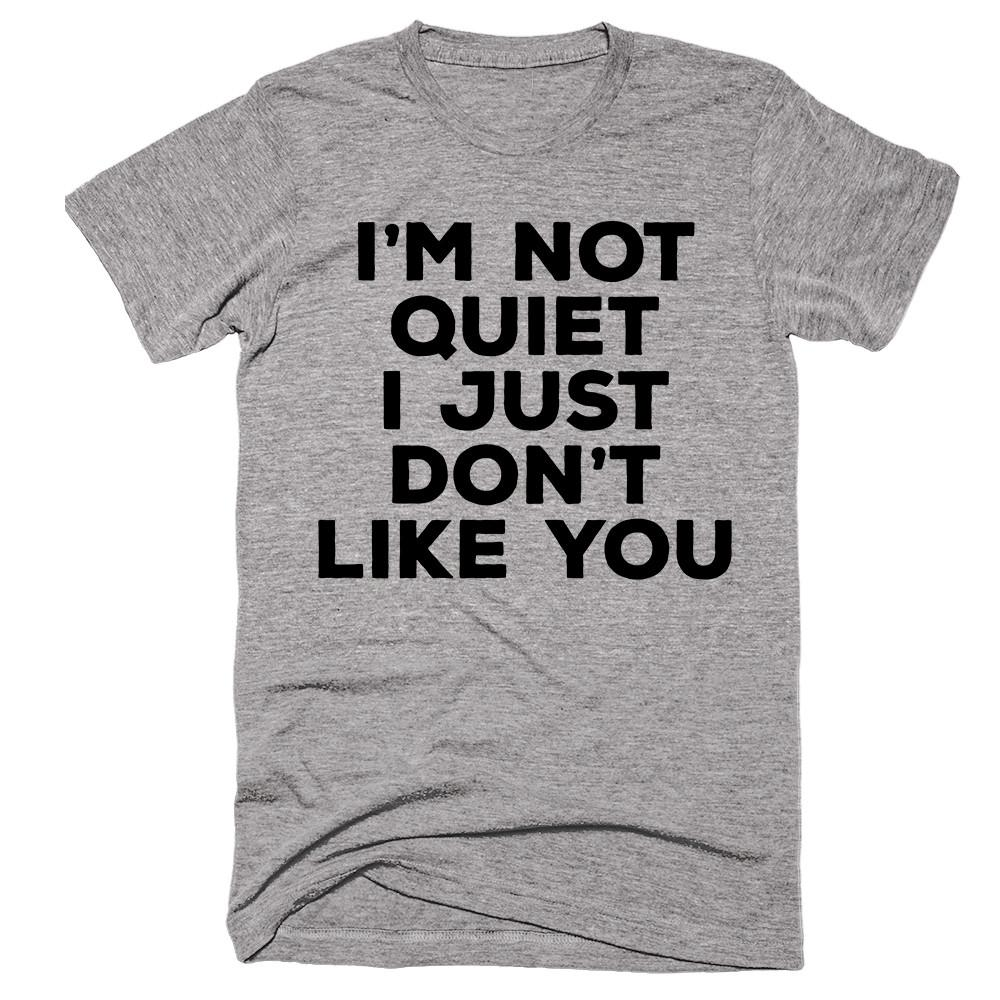 I'm Not Quiet I Just Don't Like You T-shirt - Shirtoopia