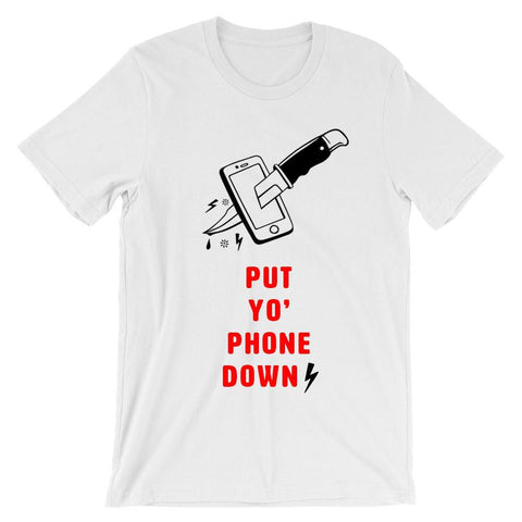 Put Your Phone Down with a Knife T-shirt