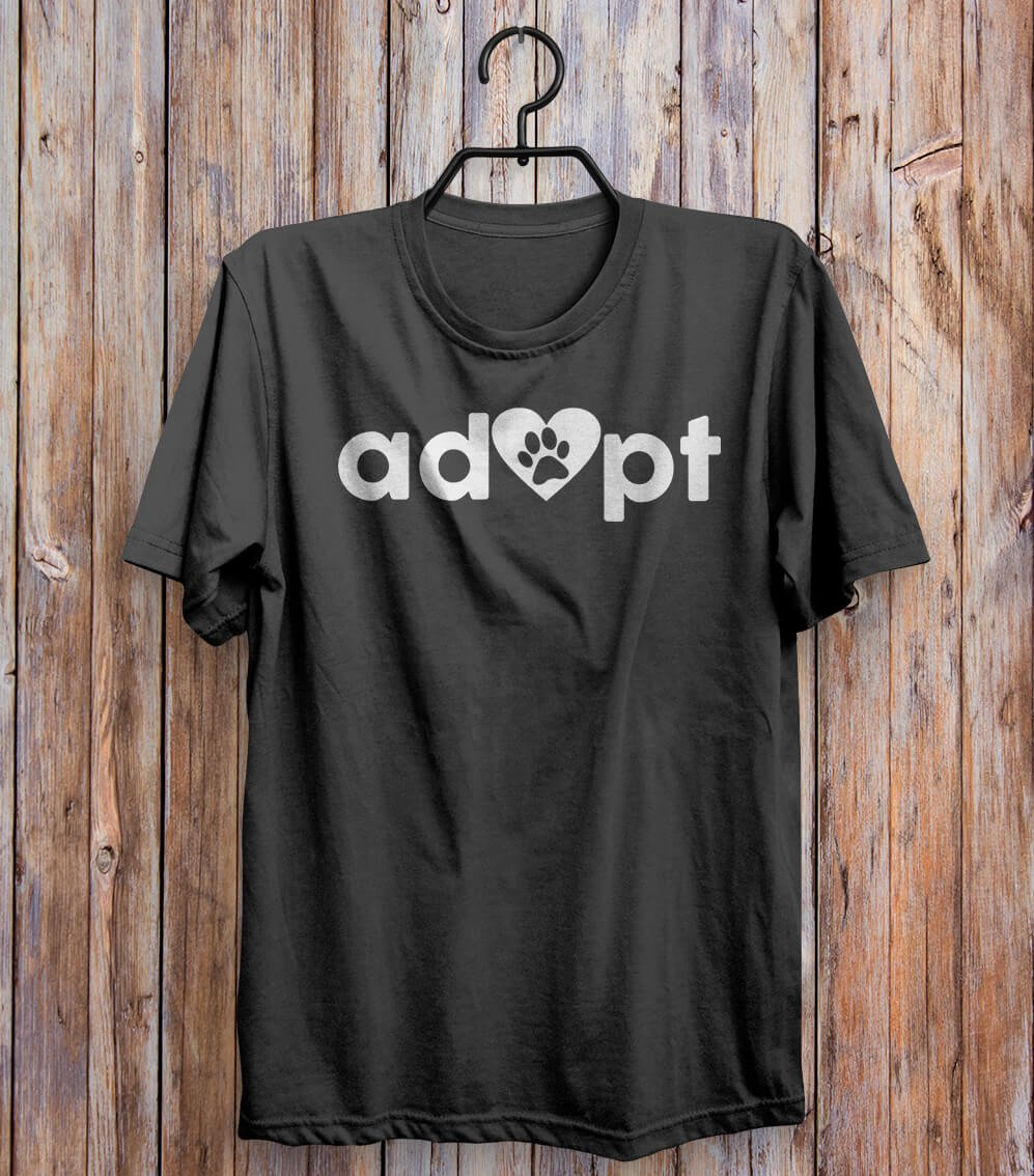 Adopt Paw T-shirt Black