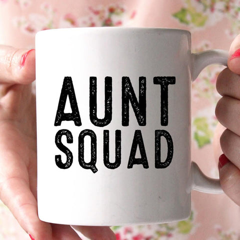 aunt squad coffee mug
