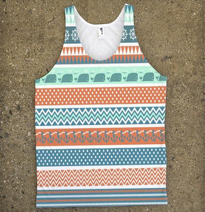 Chevron Patterns with Elephants and Anchors - Shirtoopia