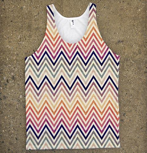 Chevron Vintage Tank Top