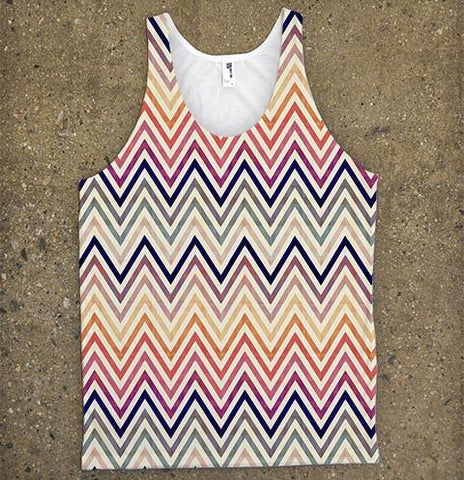 Chevron Vintage Tank Top - Shirtoopia
