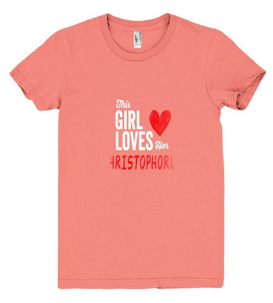 This Girl Loves her CHRISTOPHORUS Personalized T-Shirt - Shirtoopia