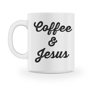 coffee and jesus mug - Shirtoopia