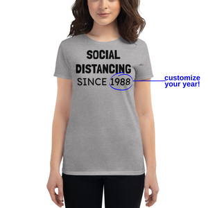 Social Distance Unisex Personalized Tshirt