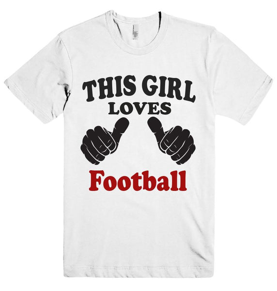 THIS GIRL LOVES Football T-SHIRT - Shirtoopia