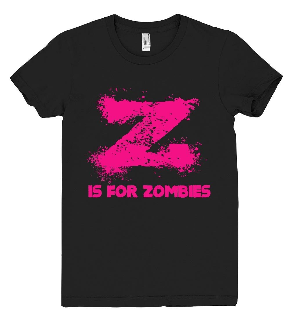 z is for zombies tshirt - Shirtoopia