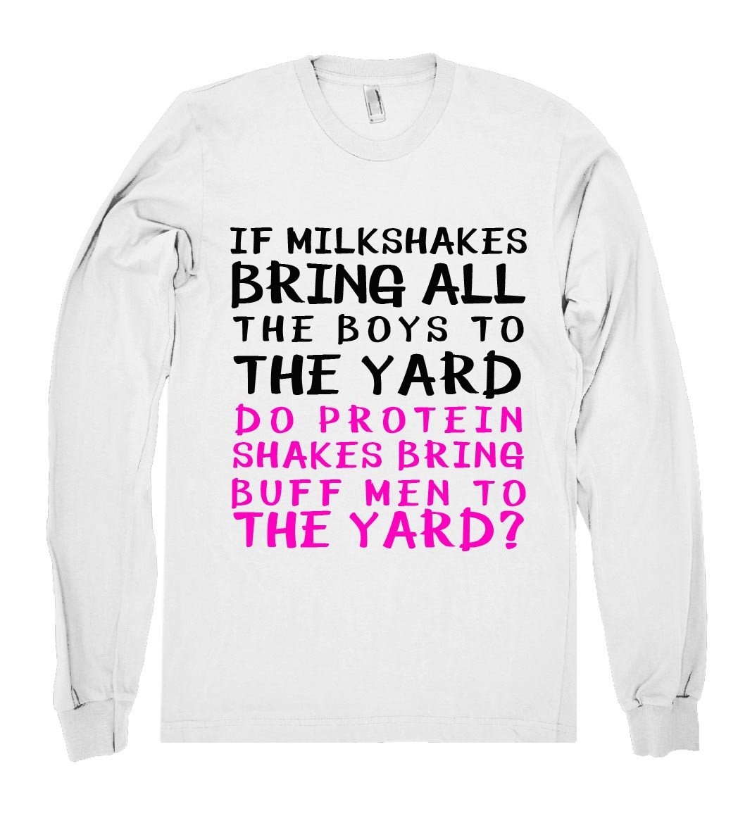 milkshaker and protein shirt - Shirtoopia