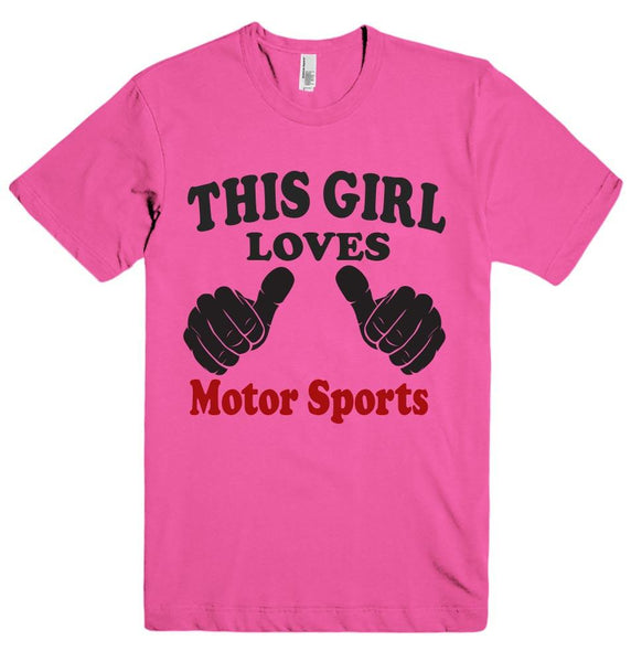 THIS GIRL LOVES Motor Sports T-SHIRT  - 2