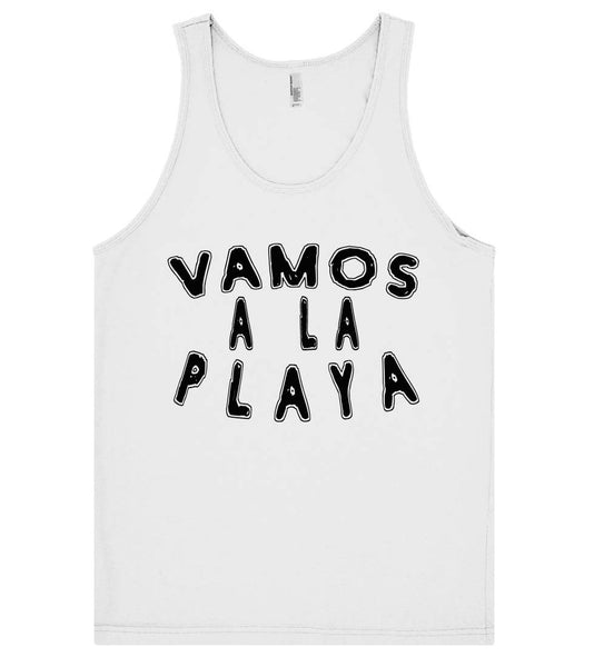 vamos a la playa tank top shirt - Shirtoopia