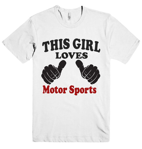 THIS GIRL LOVES Motor Sports T-SHIRT  - 5