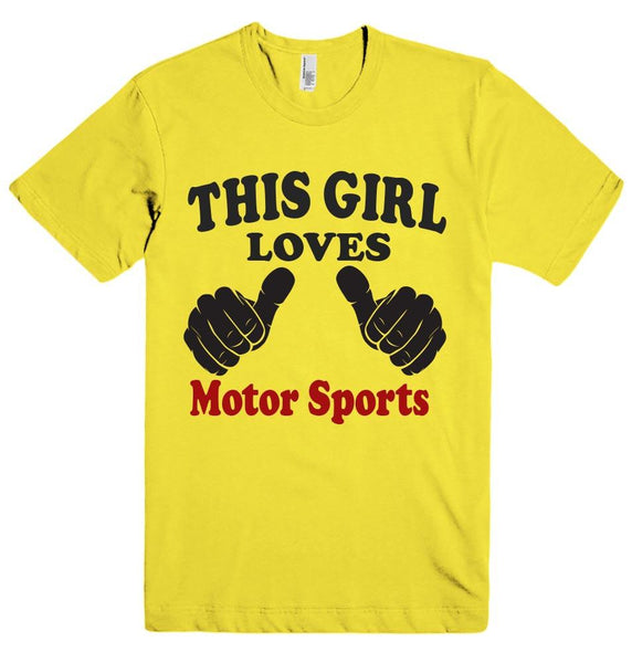 THIS GIRL LOVES Motor Sports T-SHIRT  - 3