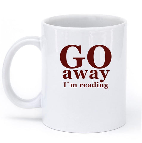 go away im reading mug