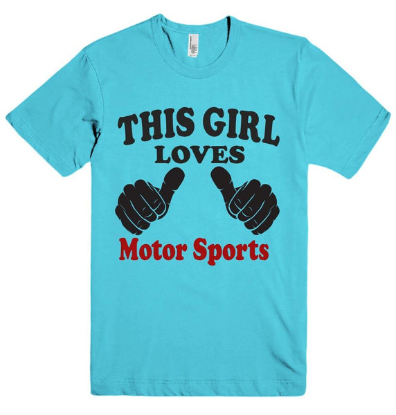 THIS GIRL LOVES Motor Sports T-SHIRT  - 4