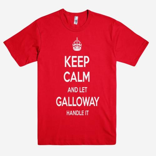 Keep Calm and let GALLOWAY Handle it Personalized Name T-Shirt ln - Shirtoopia