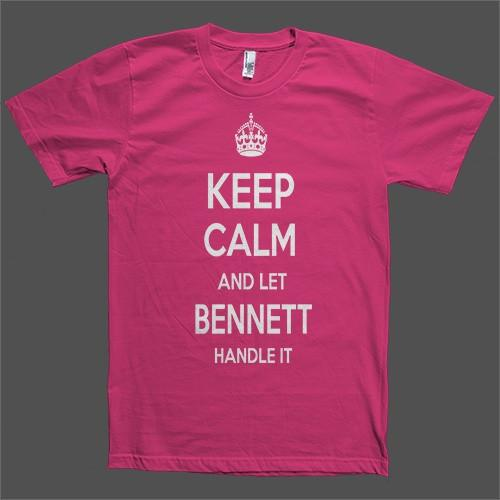 Keep Calm and let Bennett Handle it Personalized Name T-Shirt - Shirtoopia