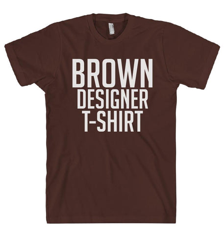BROWN DESIGNER T-SHIRT - Shirtoopia