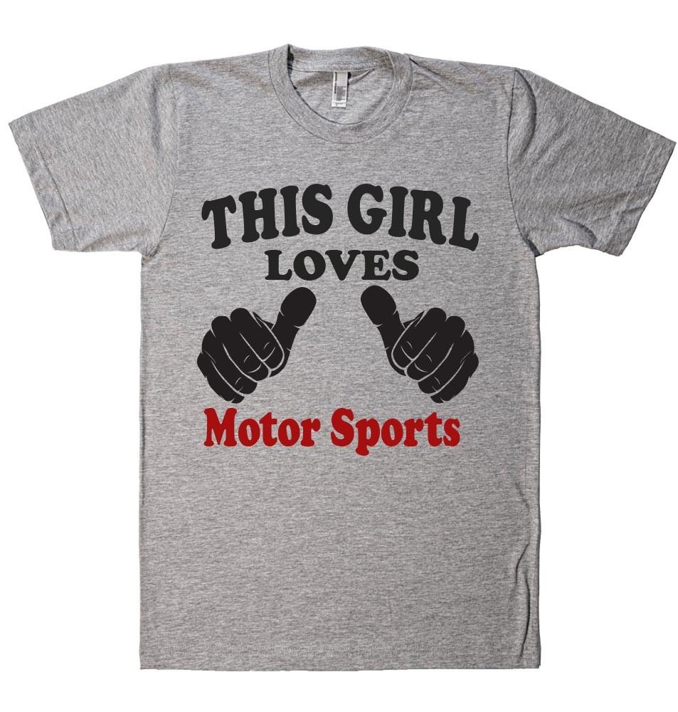 THIS GIRL LOVES Motor Sports T-SHIRT  - 1