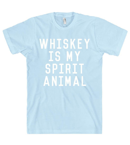 whiskey is my spirit animal t shirt - Shirtoopia