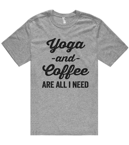 Yoga -and- Coffee are all i need t shirt  - 1