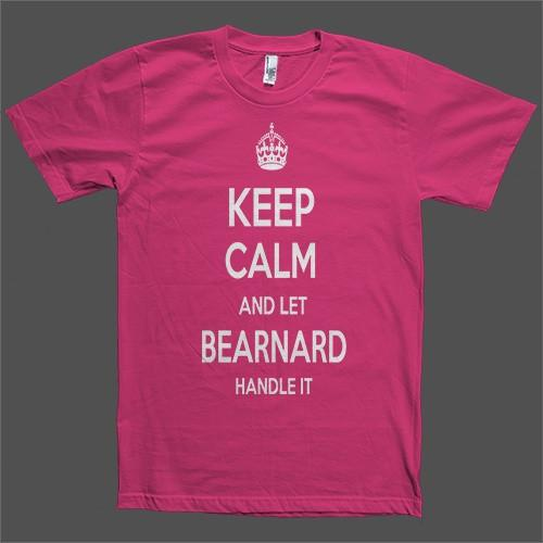 Keep Calm and let Bearnard Handle it Personalized Name T-Shirt - Shirtoopia