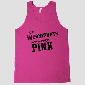 On Wednesdays we wear Pink Tank top shirt - Shirtoopia