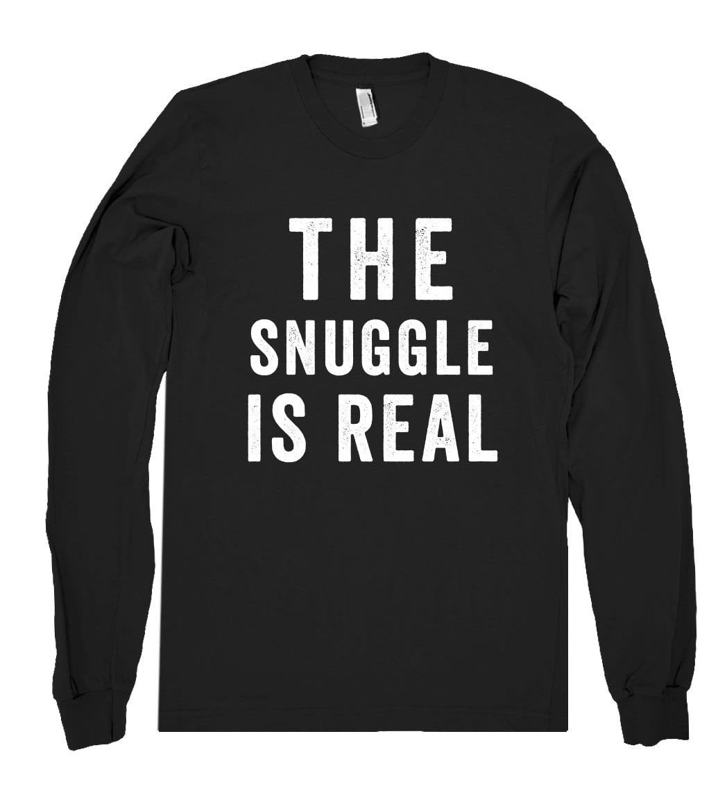 the snuggle is real shirt - Shirtoopia
