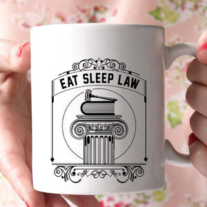 eat sleep law coffee mug - Shirtoopia