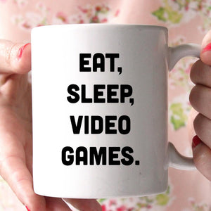 eat sleep video games coffee mug - Shirtoopia