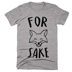 for fox sake fox head t-shirt - Shirtoopia