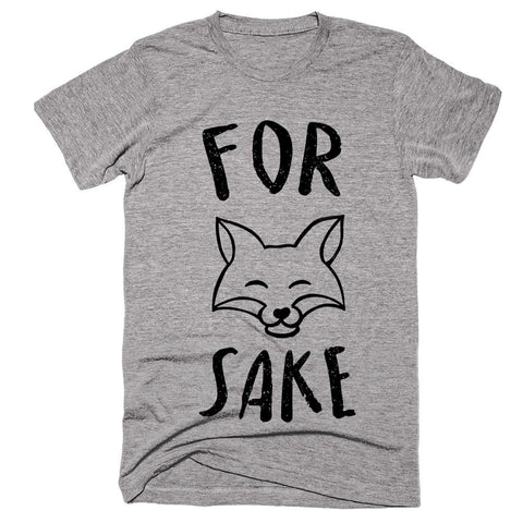 for fox sake fox head t-shirt