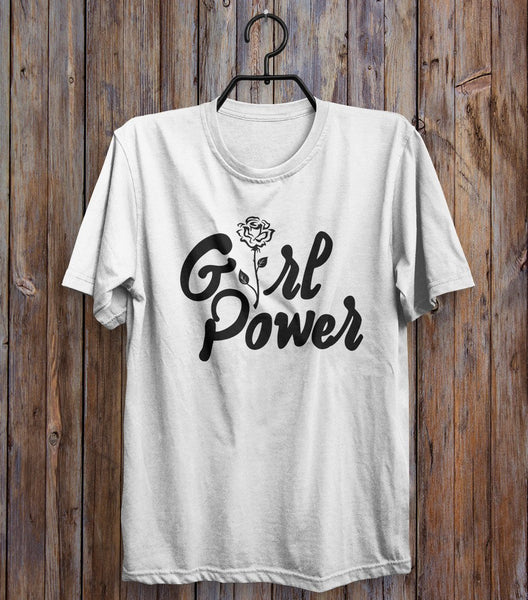 Girl Power Rose T-Shirt - Shirtoopia