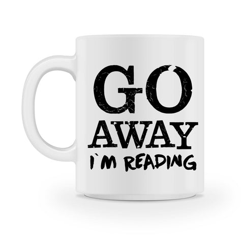go away im reading coffee mug books