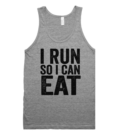 i Run so i can Eat tank top shirt - Shirtoopia