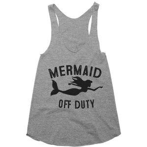 mermaid off duty racerback shirt top