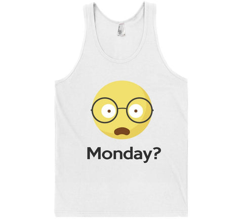 monday? emoji tank top shirt - Shirtoopia